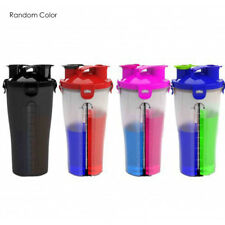 Dual Shaker Protein Blender Mixer Cup 2 Compartment Sport Bottle 850ml
