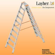 Layher Alu Stufenstehleiter, 2x10 Stuf., L=2,50m, Bockleiter,Topic Typ 1043.010