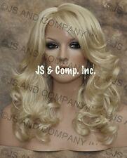 Beautiful Full Layered wavy Pale Blonde wig JSBD 613