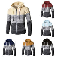 Casual Jacket Warm Outwear Hooded Winter Sweater Mens Sweatshirt Hoodie Coat