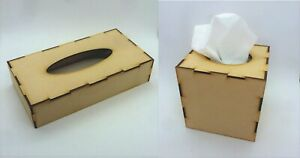 TISSUE BOX COVER mixed media artist board blank MDF Wooden i30 cube rectangle