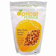 Apricot Power Bitter Raw Apricot Kernels Seeds - 16 oz B-17 AMYGDALIN SUPER SEED