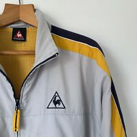 Mens Le Coq Sportif Vintage 90s Windbreaker Zip Up Jacket Collared Size Medium