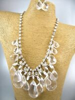 Elegant Crystal Beads Chain Necklace Costume Metal Fashion Jewelry