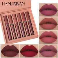 6PCS/Set Long Lasting Lip Gloss Beauty Glazed Matte Liquid Lipstick Lip Make-up