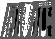 GIANT TCR Advanced SL 2016 Frame Sticker Factory Decal Adhesive Vinyl Set White