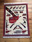 •272• Beautifully Handmade  Genuine Afghan War Rug, 84x63 cm