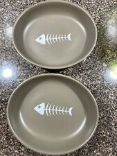 New listing Boots & Barkley - Cat Bowl With Fish Image - Set Of 2