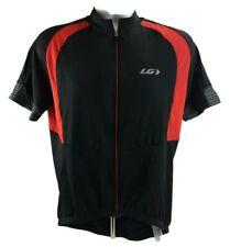 Louis Garneau Mens XXL 2X Cycling Jersey Shirt 1/4 Zip Red White Grey SS  BK
