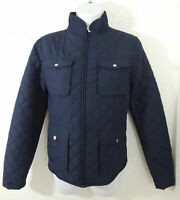 $199 Ralph Lauren Quilted Zip-Down Ski Mockneck Barn Jacket Equestrian Coat S