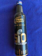 Super Bowl 50 NFL Limited Edition Bud Light Aluminum Can/Bottle Empty 2016