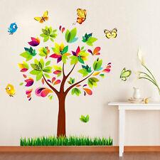 Flowers Tree Butterfly Birds Wall Sticker Mural Decal Home Kids Room Art Decor