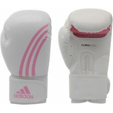 NEW adidas Boxing BOX-FIT Training Gloves-White/Pink size 14 oz.