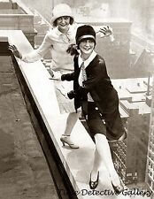 Roaring 20s Flappers Dancing on Rooftop - 1920s - Historic Photo Print