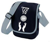 Netball Themed Bag Mini Reporter Shoulder Bags Gift for Netball fan or Player