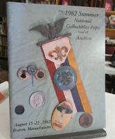 1982 KURT KRUEGER Exonumia Auction Catalog for SUMMER NATION COLLECTIBLES EXPO