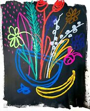 IMPRESSIONISM PAINTING FRUIT FLOWER ART ORIGINAL HOME DECORATION IDEA EXPRESSION