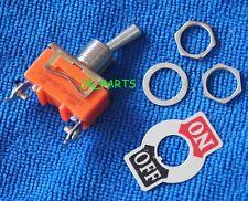 5pcs E Ten1021 2 Pin Toggle Flick Switch Spst On Off Car Dash Light Metal