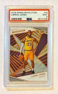 2018 Panini Revolution Lebron James #40 1st Lakers Card PSA 9 MINT
