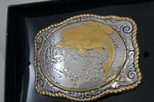 CRUMRINE Belt Buckle BASS by M & F Western fish 38056