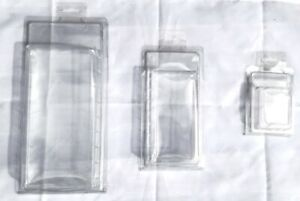 25 / 50 / 100 CLEAR PLASTIC CLAMSHELL BLISTER DISPLAY BOXES, SIZES AVAILABLE M+L