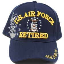 U.S.AIR FORCE RETIRED Cap/Hat w/ Insignia Shadow Blue Military *FREE SHIPPING*