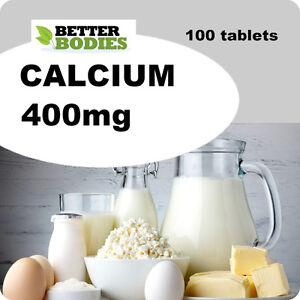 100 Calcium 400mg Tablets Healthy Teeth Bones Acid Reflux, Indigestion