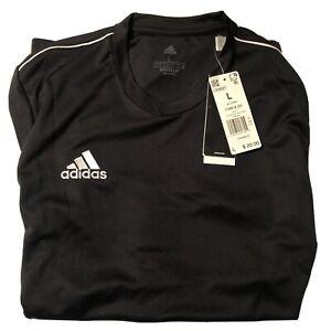 Adidas Core 18 Training Top Men's CE9021 Size L Black/White