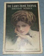 antique Ladies Home Journal magazine Nov. 1, 1910 Harrison Fisher cover