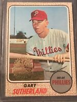 Gary Sutherland 1968 Topps 50th Anniversary 2017 Buyback Stamped PHILLIES