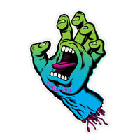 Santa Cruz Neon Screaming Hand Skateboard Sticker 3in