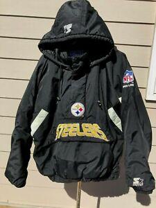 PITTSBURGH STEELERS NFL Pro Line Starter Stadium Puffer Jacket Sz L - Pullover