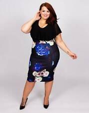 Sicarlett & Jo 2in1 pencil dress uk size 18 ref whr42
