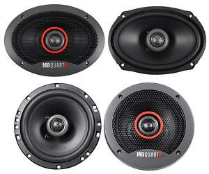 """(2) MB QUART FKB169 6x9"""" 300 Watt Car Speakers+(2) 6.5"""" 240 Watt Speakers"""