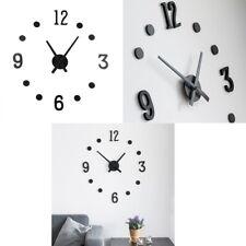 Reloj de pared mural Ø30 cm,discos-numeros adhesivos,maquinaria,agujas,colgador