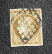 TIMBRES DE FRANCE :  1849/50 YVERT N° 1 CERES 1 CENTIME BISTRE-JAUNE PARFAIT Obl