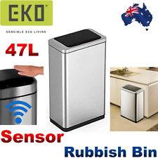EKO Stainless Steel 47litre Bin Rubbish Wastebasket Motion Sensor Trash Can New4