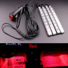New Red 9 LED Charge Car Interior Accessories Foot Car Decorative Light Lamps