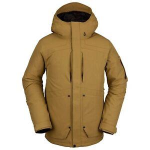 2021 NWT MENS VOLCOM SCORTCH INSULATED JACKET $210 L Burnt Khaki standard fit