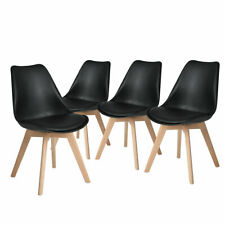 4er Set Esszimmerstühle Küchenstühle mit Beinen aus Massiv-Holz Wohnzimmerstuhl