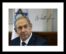 BENJAMIN NETANYAHU 8x10 SIGNED Photo Print Autograph ISRAEL Prime Minister