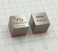 1 Piece 99.99% High Purity Ytterbium Yb 10mm Cube Carved Element Periodic Table