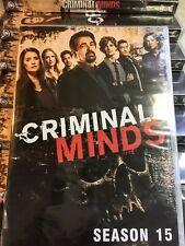 Criminal Minds Complete Season 15 Dvd New! Free Shipping, Usa Seller Region 1