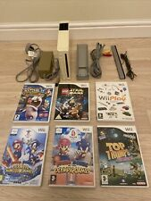 Nintendo Wii White Console 6 Game Bundle -FULLY TESTED - Mario & Sonic/Star Wars