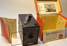 "ANTIQUE VINTAGE "" BOX Ensign "" 2 1/4B  film camera W/ ORIGINAL RETAIL BOX"