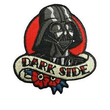 "DARTH VADER DARK SIDE IRON ON PATCH 3.5"" Embroidered Applique Star Wars Tattoo"