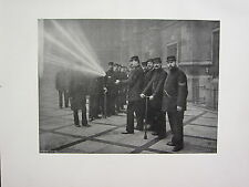 1905 POLITICAL PRINT + TEXT ~ THE NIGHT FIRE BRIGADE