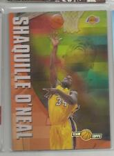 2001-02 Topps Chrome Basketball Shaquille O'Neal Team Topps Refractor Card (CSC)