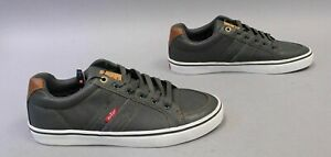 Levi's Men's Turner Nappa Lace-Up Low Top Sneakers AB3 Grey/Tan