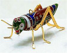Kubla Cloisonne Grasshopper Ornament. Superb!